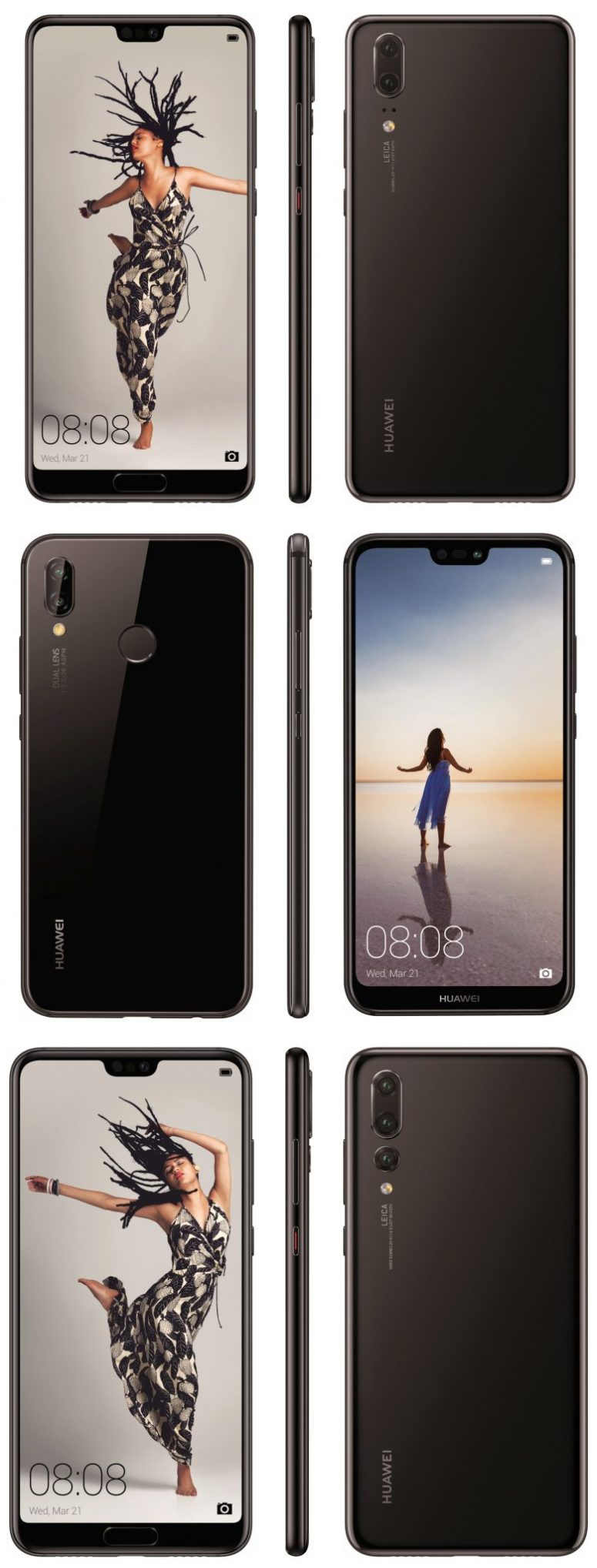 Huawei P20 Lite, P20 and P20 Pro