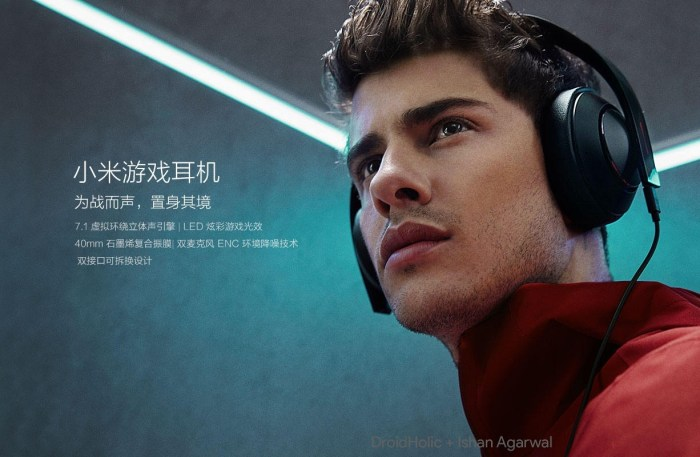 Xiaomi Gaming headset will go on sale on April 27 for ¥349 ($55) 5