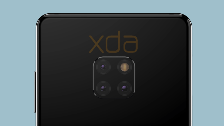 Huawei Mate 20 with triple rear cameras