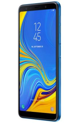 Galaxy A7 2018 render Blue 4