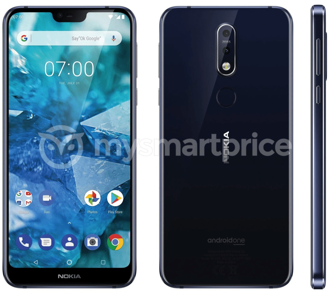 Nokia 7.1 Plus press image that leaked recently