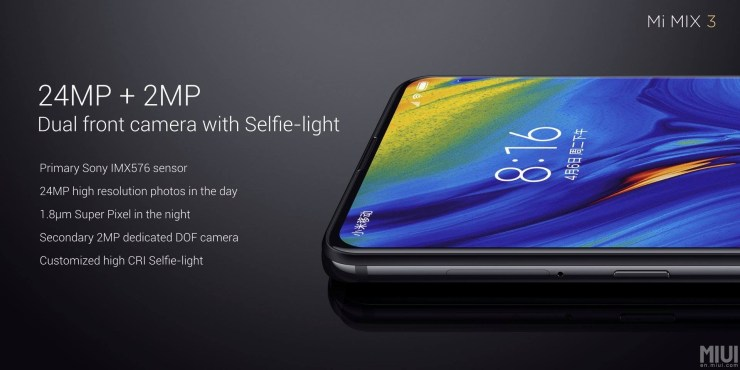 Xiaomi Mi Mix 3 launched with bezel-less design & up to 10GB RAM 6