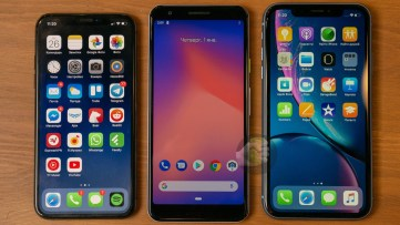 iPhone XS, Google Pixel 3 Lite and iPhone XR