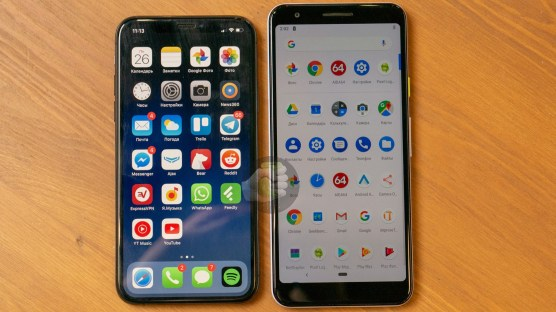 iPhone X and Google Pixel 3 Lite