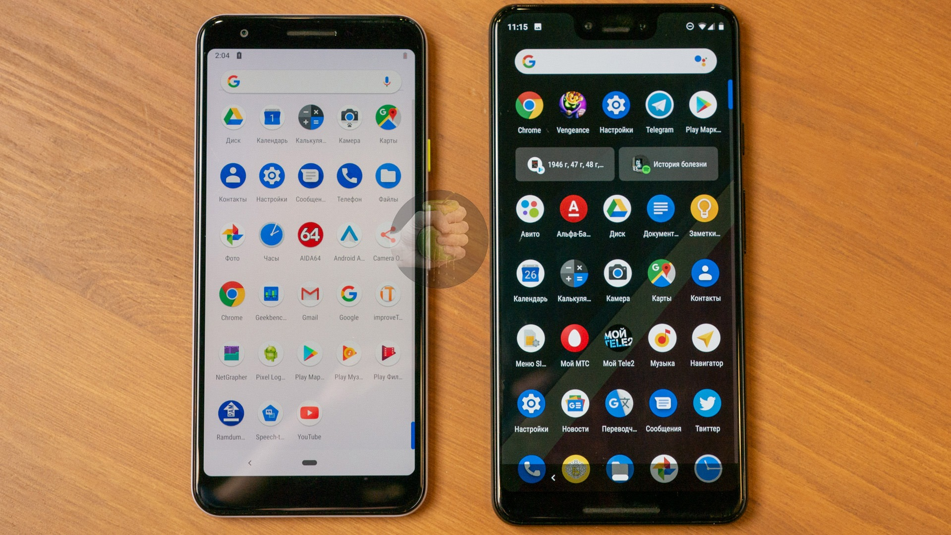 Here's how Google Pixel 3 Lite compares to other phones in terms of size 4