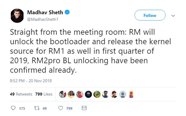 Realme 1 & Realme 2 Pro Bootloader Unlock