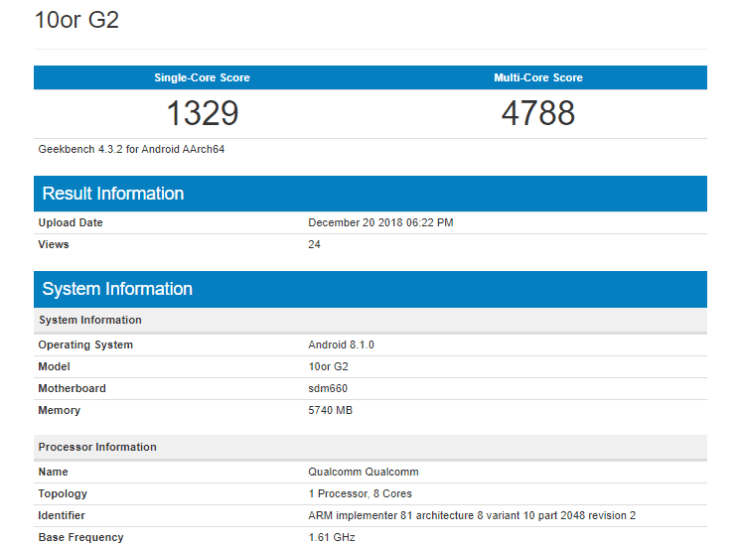 10.or G2 on Geekbench