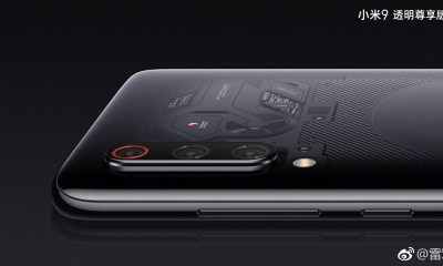 This is the transparent Xiaomi Mi 9 with triple cameras & 12GB RAM 48