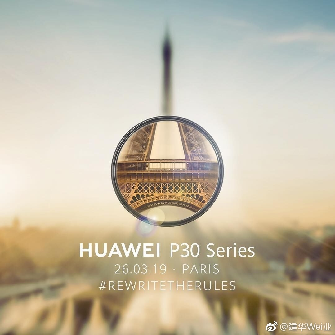 Huawei P30 Series launching on March 26