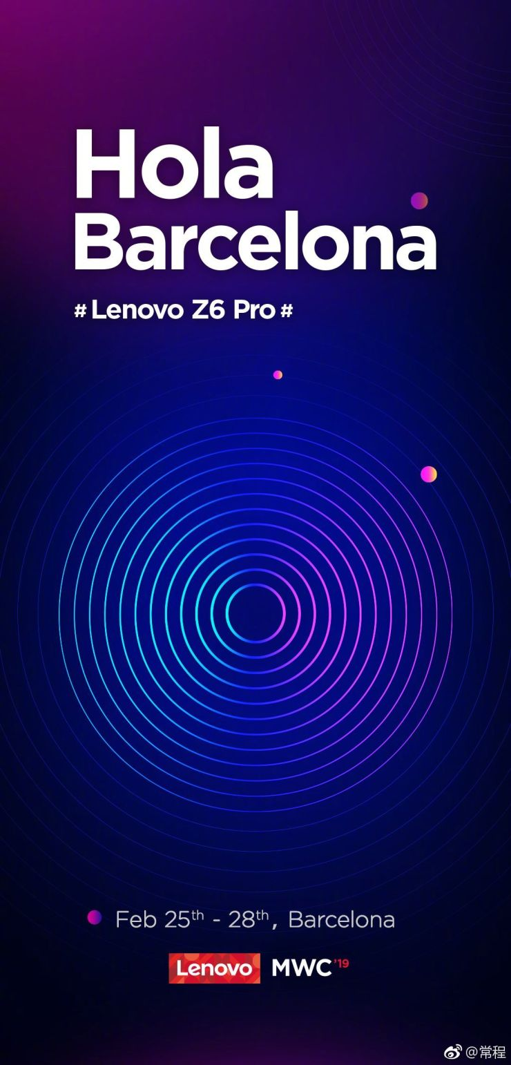 Lenovo Z6 Pro launching at the MWC