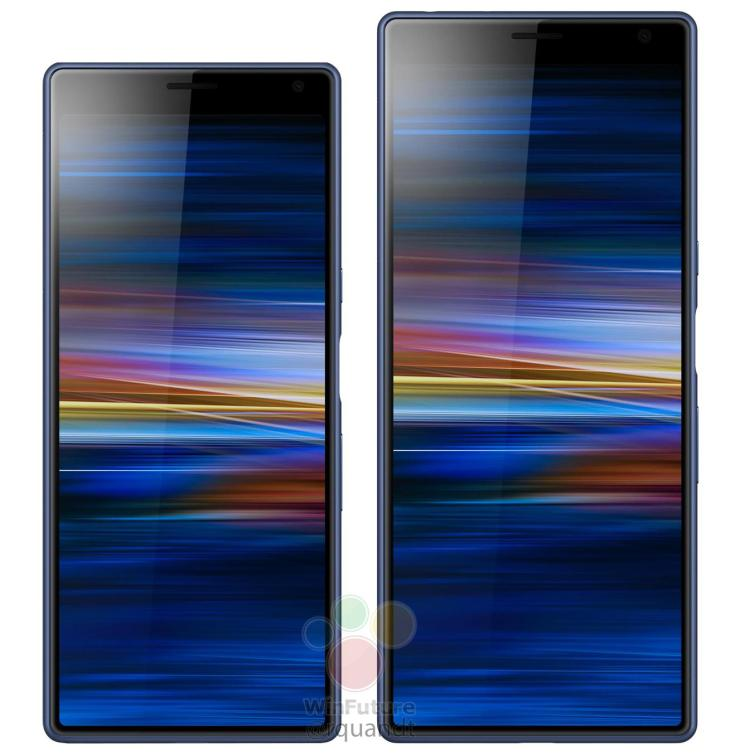 Sony Xperia 10 and Xperia 10 Plus from the front