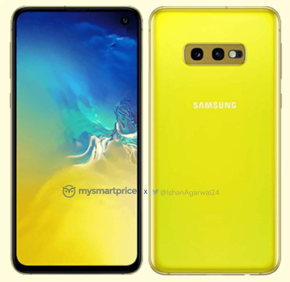 Samsung Galaxy S10e in Canary Yellow