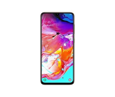 Galaxy A70_Coral_Front