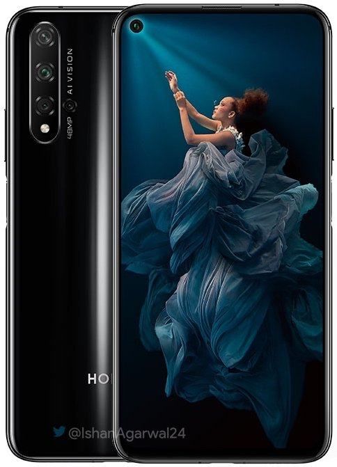 Honor 20 press renders reveal quad cameras & side-facing fingerprint scanner 4