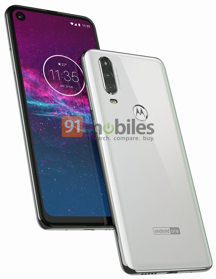 Motorola One Action Press Render