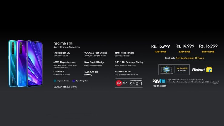 Realme 5 Pro Price & Availability