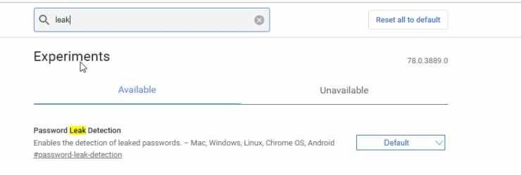 Password Leak Detection