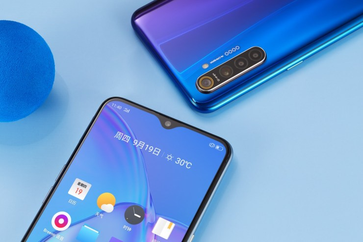 Realme X2 has a display with Waterdrop Notch