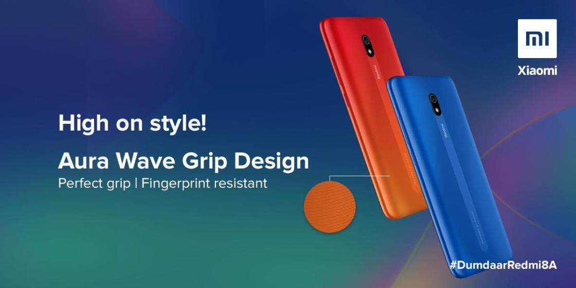 Redmi 8A Aura Wave Grip Design