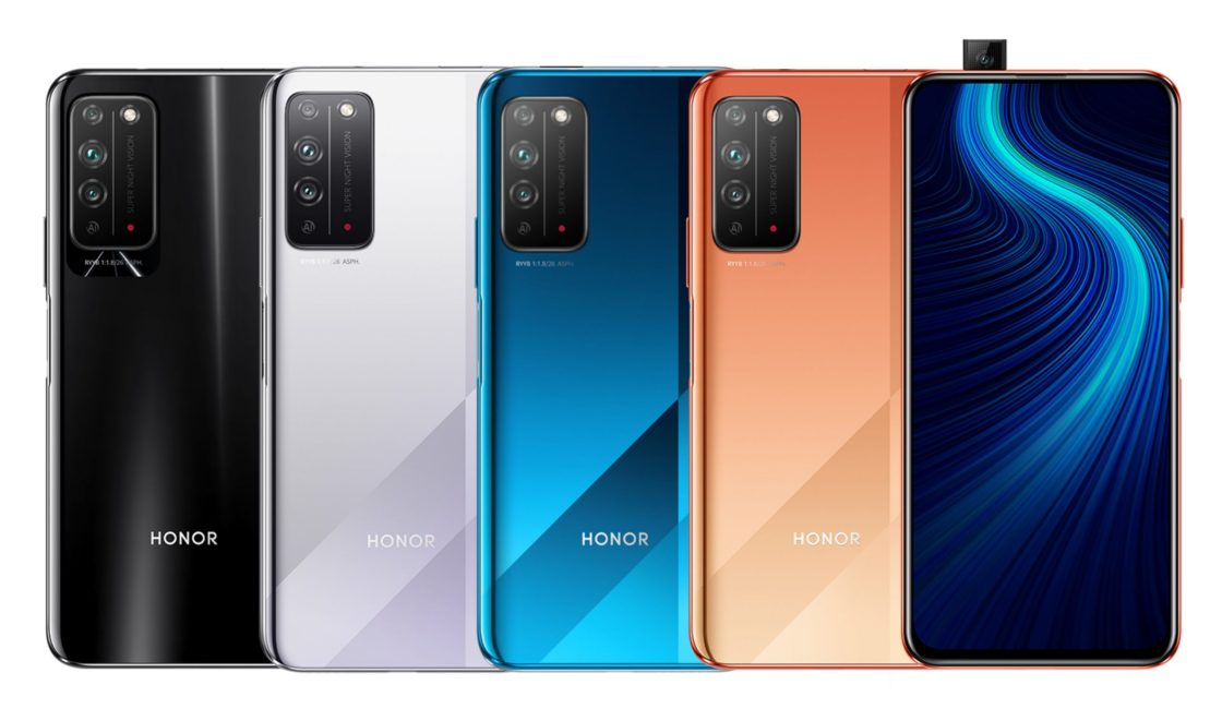 Honor X10 in four colors