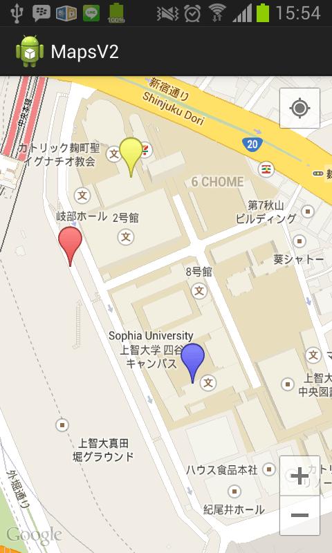 lokasi langsung mengarah ke tempat marker berada