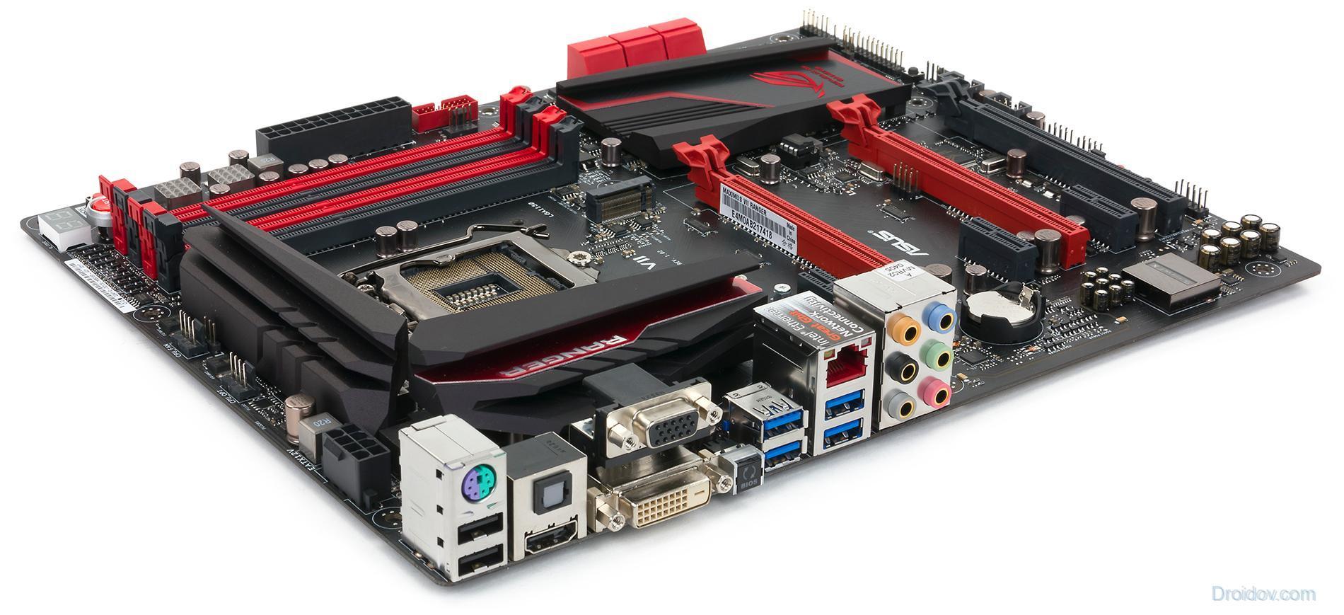 Computer motherboard.