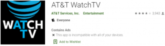 AT&T WatchTV For Windows