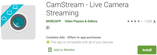 CamStream For PC Download
