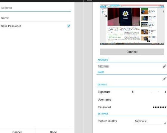 PC-Bildschirm auf Android mit VNC