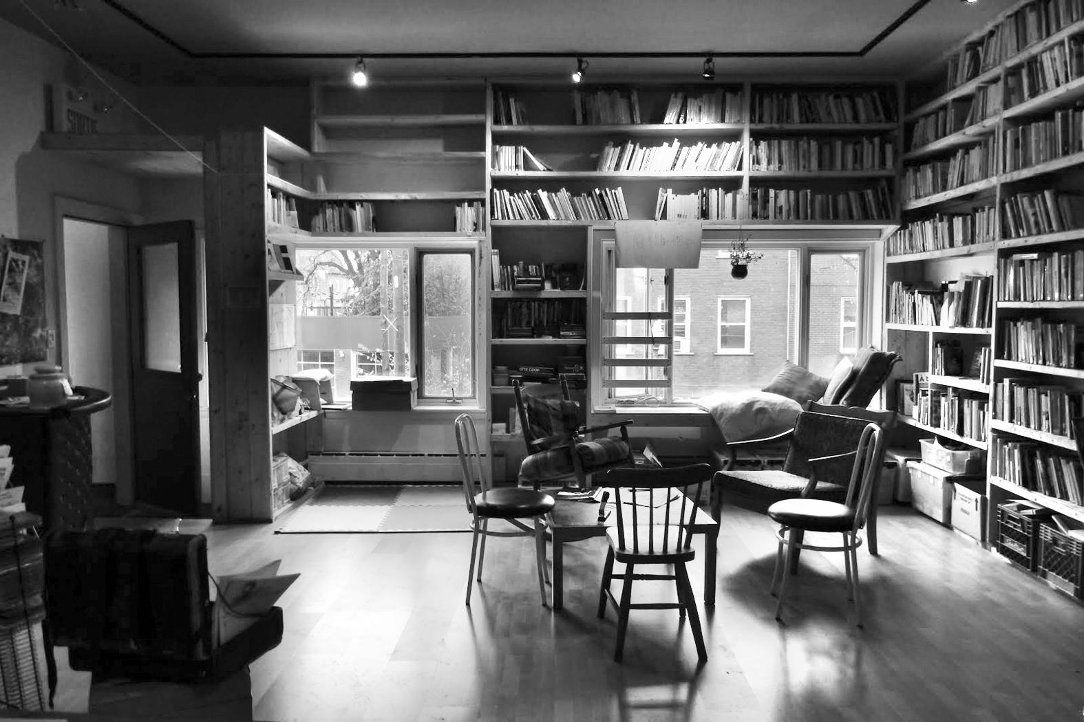 Local de la librairie la Page noire. Photo: Courtoisie