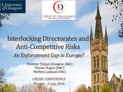Interlocking Directorates and Anti-Competitive Risks ? An Enforcement Gap in Europe ?
