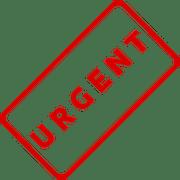 urgent de demander l'arrêt des travaux