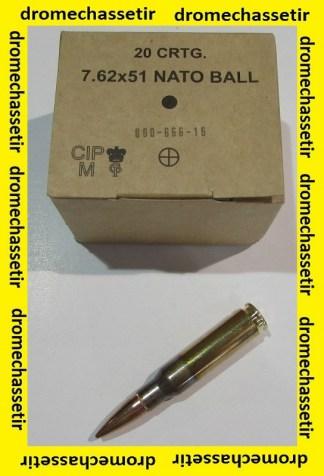 Caisse de 640 munitions GGG calibre 308 winchester