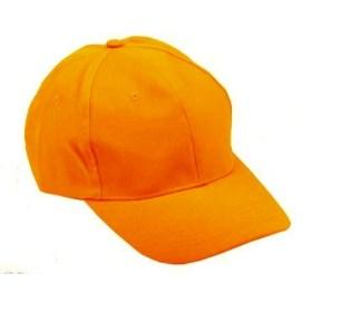 Casquette fluo orange a taille reglable