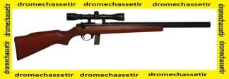 Pack carabine 22Lr armscor silencieuse avec lunette 3-9x40