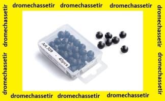 Lot de 40 billes plastique diametre 8mm pour lance pierre