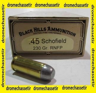 boite de 50 cartouches de calibre 45 Schofield