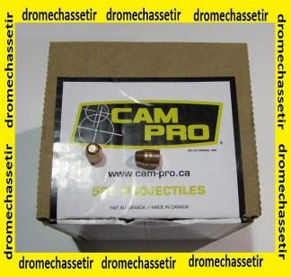Boite 500 ogives electro cuivré Cam Pro