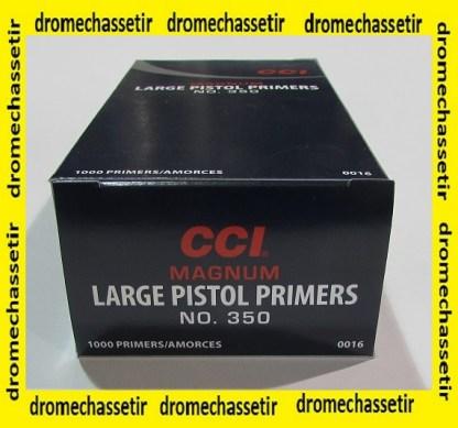 pack de 1000 amorces Large Pistol Magnum de marque CCI 350 CCI