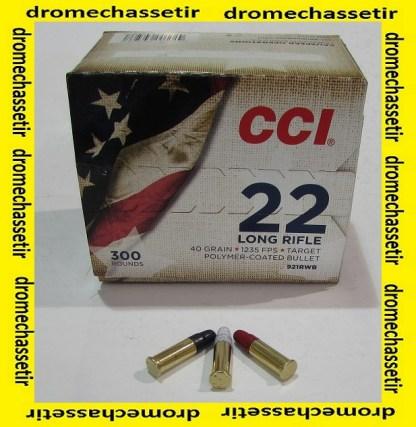 boite de 300 cartouches de 22Lr de marque CCI modele Patriot Bleu blanc rouge