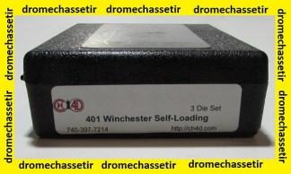 Jeux d'outils CH4D pour le rechargement en calibre 401 WSL (Winchester self loading)