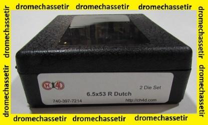 Jeux d'outils CH4D pour le rechargement en calibre 6,5x53R Dutch