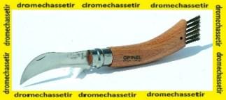 Couteau Opinel special pour champignons avec sa brosse