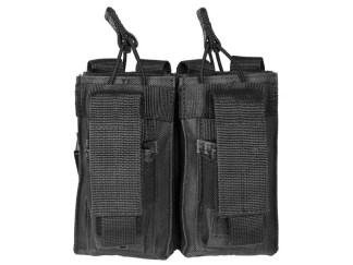 Double porte chargeurs fusil d'assaut + 2 porte chargeurs arme des poings (noir)