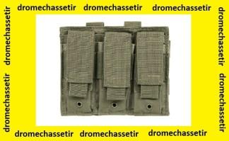 Triple porte chargeur (gris foncé) avec attache pour passant molle