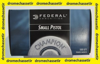 boite de 1000 amorces federal small pistol