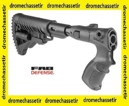 CROSSE RéTRACTABLE ET PLIANTE avec absorbeur de recul TYPE M4 FAB DEFENSE AGMF500FKSB POUR Mossberg