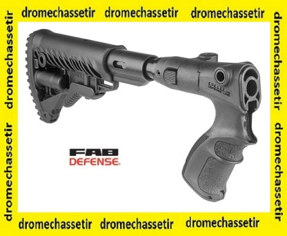 CROSSE RéTRACTABLE ET PLIANTE TYPE M4 FAB DEFENSE AGRF 870 FK SB POUR REMINGTON 870 - NOIRE