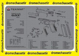 Tapis de nettoyage neoprene decor Pistolet GLOCK gen 4