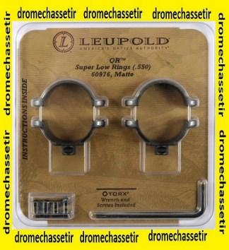 Lot de 2 colliers Leupold QR acier